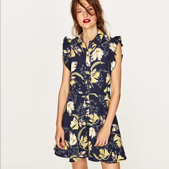 43f31183164f NWT Zara Floral Print Flowy Romper Jumpsuit